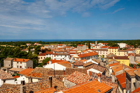 View of Valle - Bale typical Istrian town in Croatia Editorial