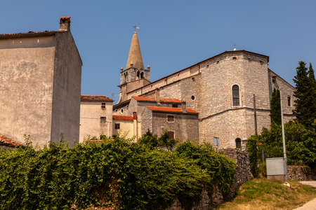 View of the church of Visitation of Blessed Virgin Mary to St. Elizabeth, Bale - Valle, Istria. croatia