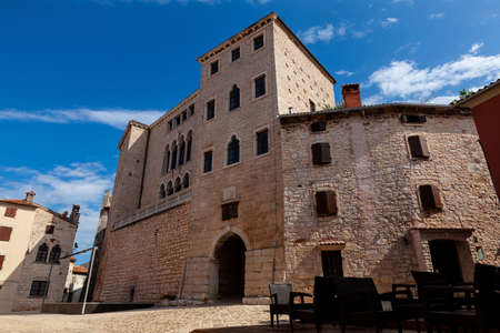 View ot the venetian palace called Soardo – Bembo Castle in Valle - Bale, Istria. Croatia Editorial