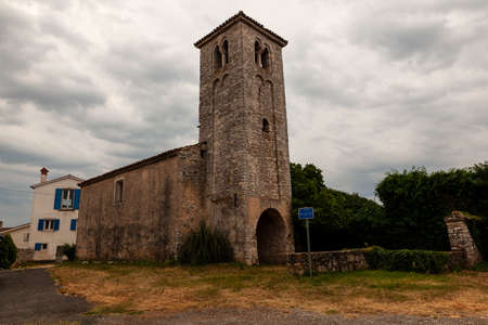 View of the Saint Elias church in Bale - Valle, Istria. croatia