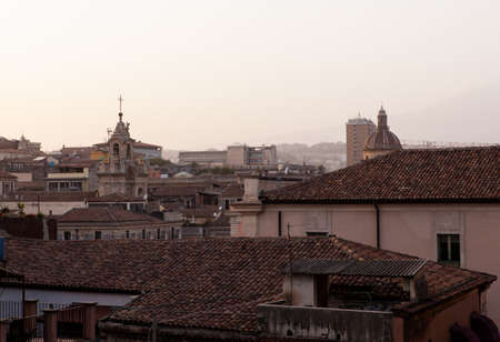Top view of Catania roofs from the Badia church Stok Fotoğraf