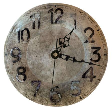 Elegant vintage clock isolated on white background
