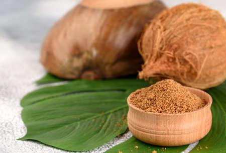 Raw Organic Coconut Palm Sugar in a Bowl.