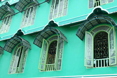green mosque architecture windows