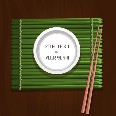 sushi plate: sushi plate bamboo