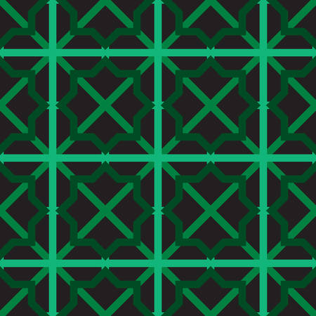 Islamic seamless pattern. abstract ornament. vector design for print and fabric motif, fashion, tile, wallpaper background design. green