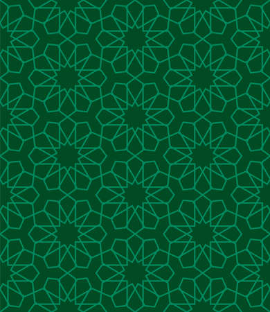 Islamic seamless pattern. abstract ornament. vector design for print and fabric motif, fashion, tile, wallpaper background design. also can use for ramadan kareem themes background. green