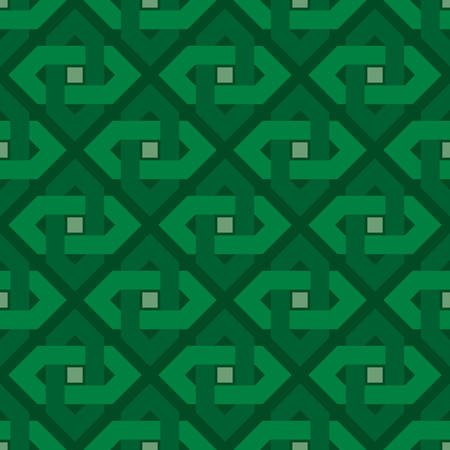 traditional simple geometric seamless pattern of batik motif background.Stylish fabric print vector design. Creative textile background for fashion or cloth. green