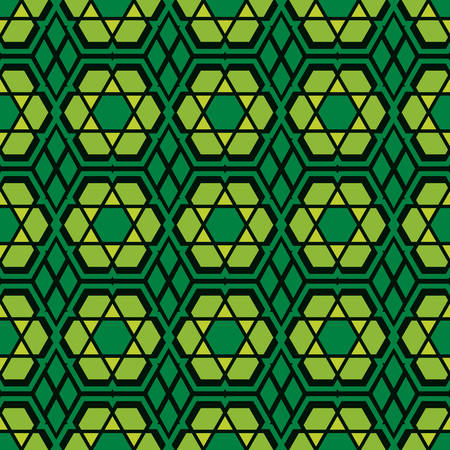 seamless pattern green islamic mosaic abstract texture vector polygonal concept.for fabric clothes wall or backdrop motif.abstract geometric.ornate hexagon background. Illustration