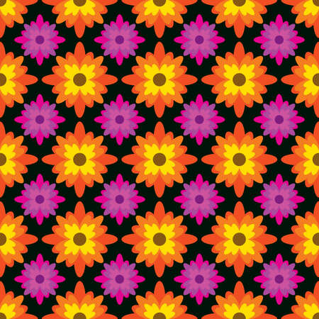 Indonesian batik is a traditional art technique made of wax and then colored which can be applied to patterns on clothes. floral pattern yellow and magenta color