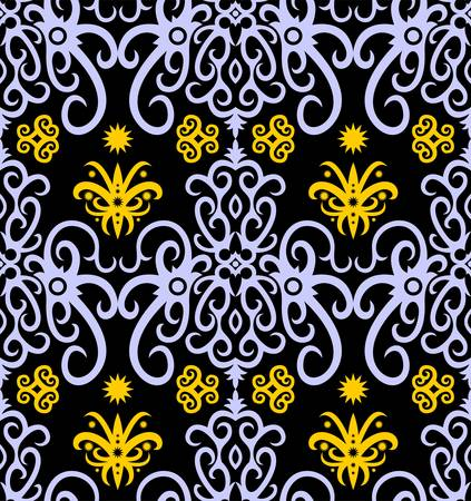 borneo dayak batik pattern.simple geometric pattern. motif background.Stylish fabric print vector design inspiration. Creative textile background for fashion or cloth