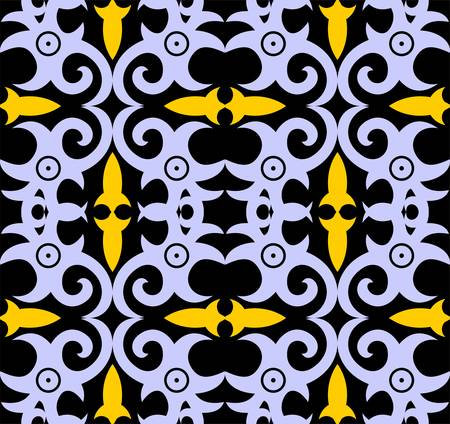 borneo dayak batik pattern.simple geometric pattern. motif background.Stylish fabric print vector design inspiration. Creative textile background for fashion or cloth Иллюстрация