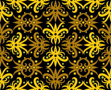 Seamless pattern of dayak batik. borneo motif style. luxury vector design inspiration.traditional Indonesian fabric motif.Creative textile background for fashion or cloth.