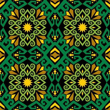 patrón sin costuras de estilo borneo batik. motivo de tela tradicional de Indonesia. inspiración de diseño vectorial. Fondo textil creativo para moda o tela. motivo de la cultura de dayak