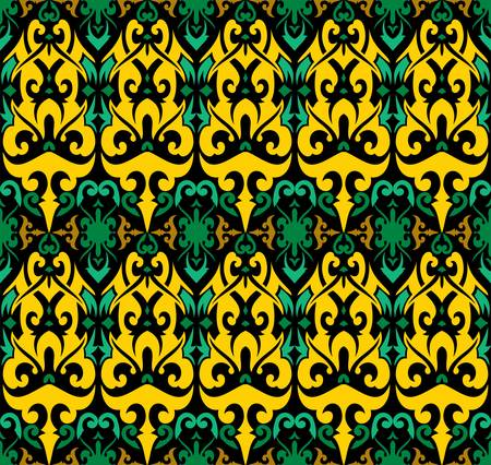 seamless patern of dayak ethnic pattern.traditional Indonesian fabric style.borneo pattern motif background. vector design inspiration. Creative textile for fashion or cloth