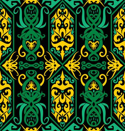 seamless patern of dayak ethnic pattern.traditional Indonesian fabric motif.borneo pattern. vector design inspiration. Creative textile for fashion or cloth