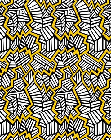 simple abstract pattern with black yellow and white color. Ilustrace