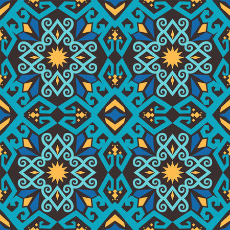 seamless pattern of borneo batik style. traditional Indonesian fabric motif. vector design inspiration. Creative textile background for fashion or cloth. culture motif of dayak  イラスト・ベクター素材
