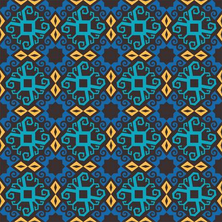 seamless pattern of borneo batik style. traditional Indonesian fabric motif. vector design inspiration. Creative textile pattern for fashion or cloth. culture motif of dayak