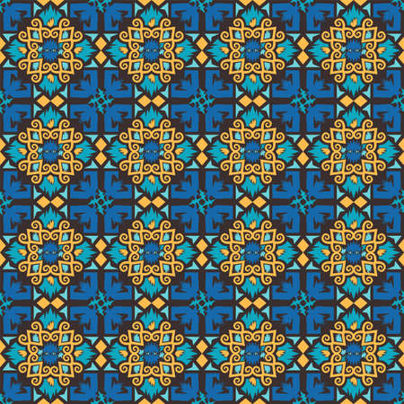 seamless pattern of borneo batik style. traditional Indonesian fabric motif. vector design inspiration. Creative textile background for fashion or cloth. culture motif of dayak Иллюстрация