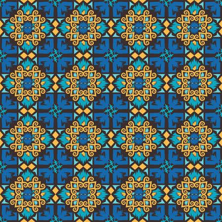 seamless pattern of borneo batik style. traditional Indonesian fabric motif. vector design inspiration. Creative textile background for fashion or cloth. culture motif of dayak Ilustração