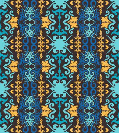 traditional seamless pattern of batik motif. Stylish fabric vector design. Creative textile background for fashion or cloth. Borneo style