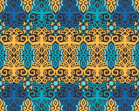 seamless pattern of dayak ethnic pattern. Traditional Indonesian fabric motif. Borneo style. vector design inspiration. Creative textile for fashion or cloth