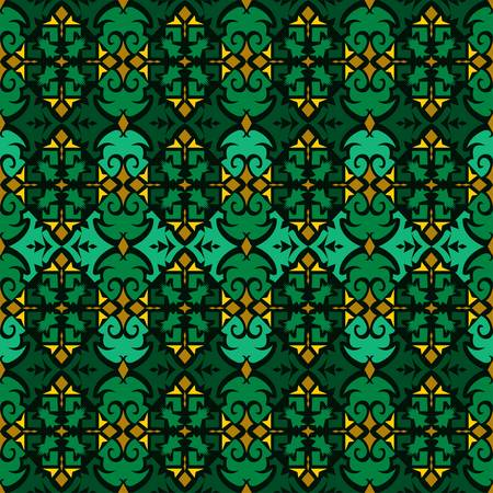 seamless pattern of ethnic pattern. Traditional Indonesian fabric motif. Dayak Borneo style. vector design inspiration. Creative textile for fashion or cloth