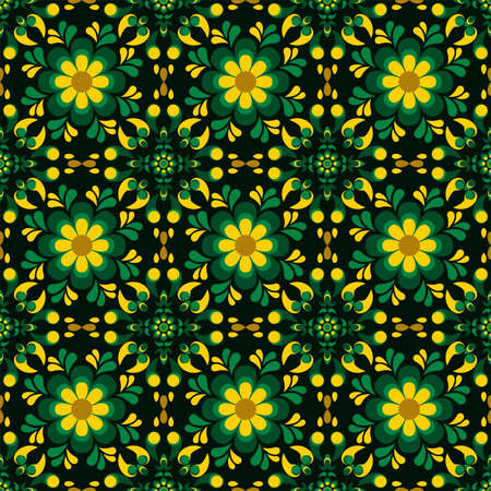 Seamless pattern with geometric ornate ethnic style. Vector Floral Illustration in asian textile. vector design inspiration. creative fabric motif Illustration