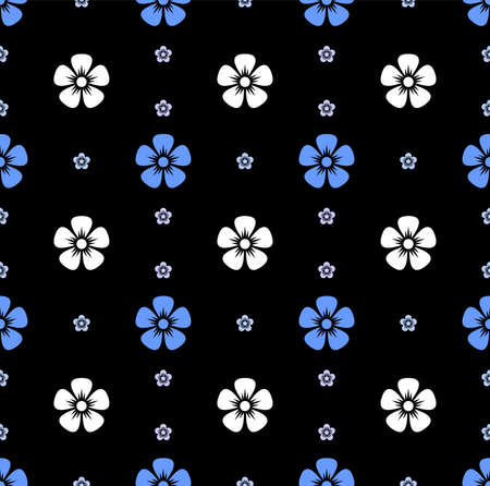 flower vector pattern,pattern fills, web page background,surface textures Illustration