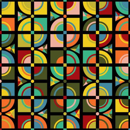 Motif abstrait coloré moderne. Conception de vecteur d'art moderne à la mode pour tissu ou tissu, emballage, arrière-plan, papier peint.