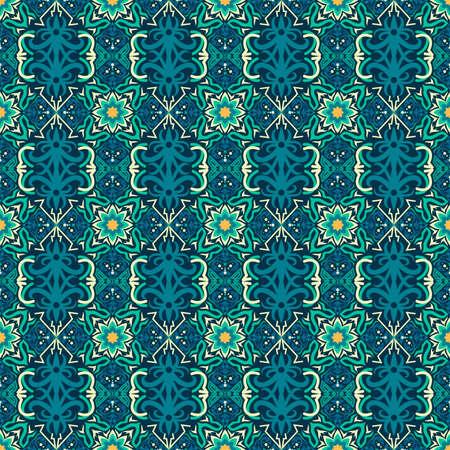 seamless pattern of ethnic pattern. fabric motif design. vector design inspiration. Creative textile for fashion or cloth. batik concept. Vetores