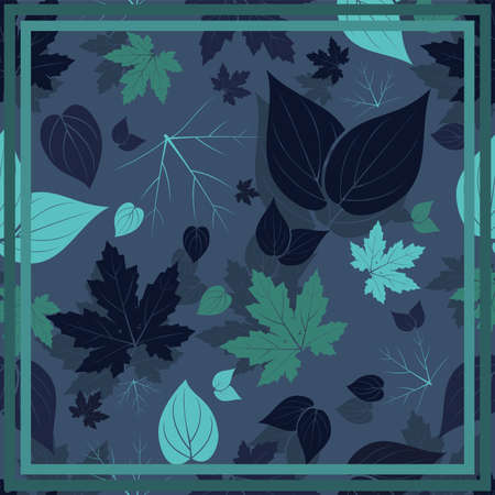 Design of hijab or scarf motifs with abstract foliage patterns. can be used also for other fabric patterns or wallpaper.vector design inspiration