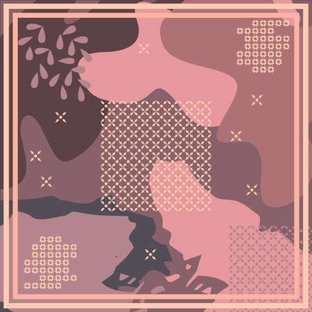 Pattern of hijab motif design with abstract design. pastel color. Silk scarf pattern vector design inspiration 向量圖像