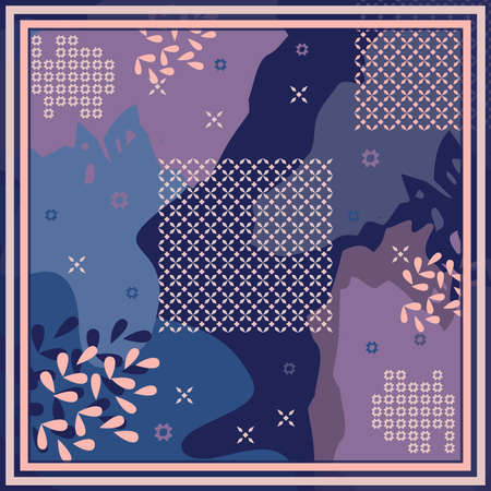 Pattern of hijab motif design with abstract design. Silk scarf pattern vector design inspiration