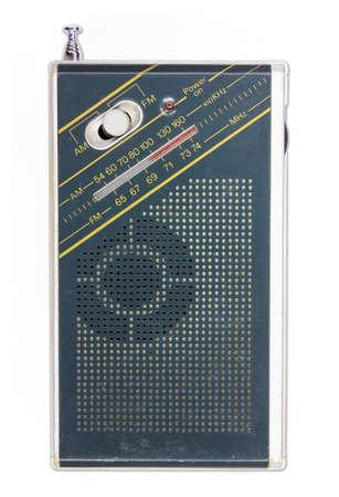 shortwave: Old pocket radio isolated on white background Stock Photo