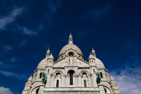 The church of Sacre Coeur, which overlooks Paris.