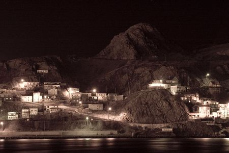 long johns: A long exposure of the Battery, an old part of St. Johns. Stock Photo