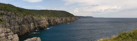 Coastline along the eastern avalon peninsula, Newfoundland. Shot on the East Coast trail, this area is only accessible by foot or by sea.