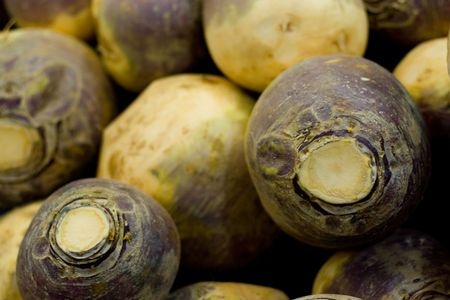Stack of turnips.