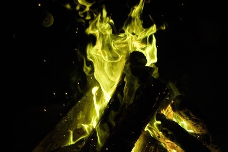 魔法篝火輝く緑、近く任意のウィザード?
