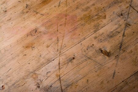 well loved: Vintage wood texture from a well loved kitchen table.