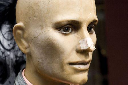 dutch girl: Shot of an injured mannequin on an Amsterdam street.