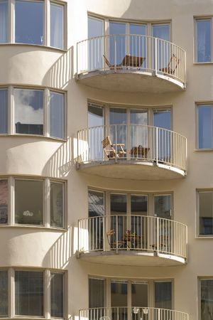 Stylish modern apartments in Stockholm, Sweden. 写真素材