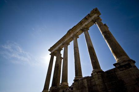 Roman ruins in the Forum in Rome.  写真素材