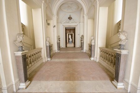 palatial: Empty museum in Rome. Stock Photo