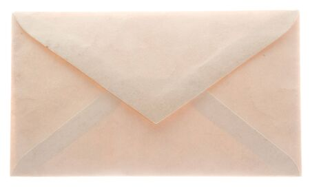 envelope: Vintage glowing envelope from the back, well worn and closed. Not sealed.