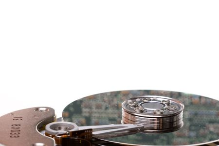 回路基板、ハード ドライブのプラッタに反映されます。 写真素材