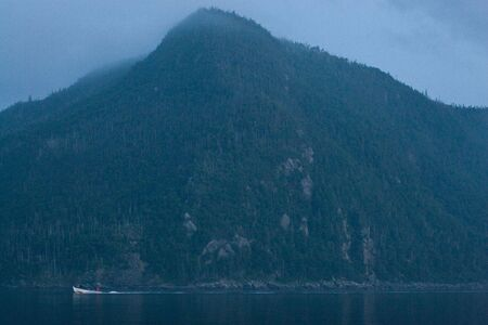 The view from Bonne Bay at dusk. 写真素材