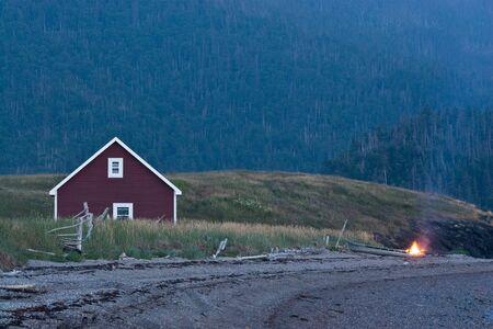 Bonfire on the beach in Bonne Bay, Gros Morne. Stock Photo - 3906135